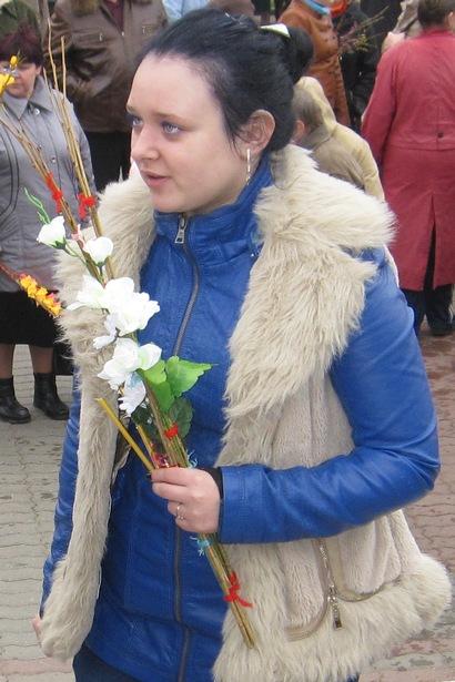 Барановичи празднуют Вербное воскресенье. Фото автора.