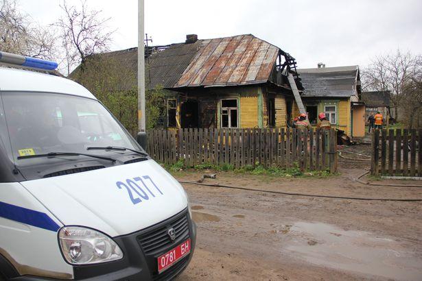 Пажар на вуліцы Беларускай