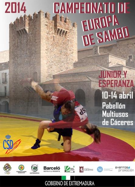 Афиша европейского первенства по  самбо. Фото с сайта worldsport.ge