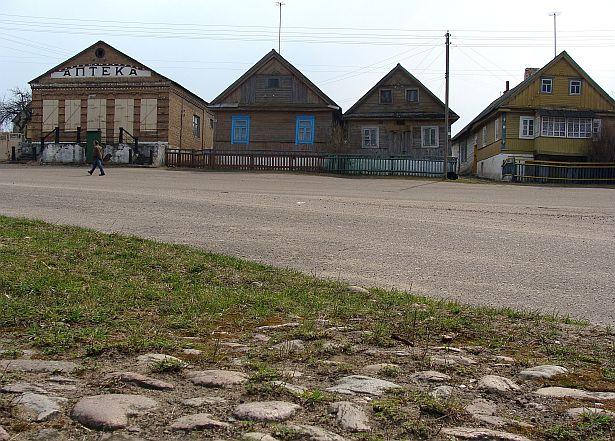 Так выглядаў цэнтр Моўчадзі пяць гадоў таму. Фота: Алесь Гізун