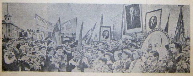 Закладка помніка Леніну ў Баранавічах, 22 красавіка 1960 года