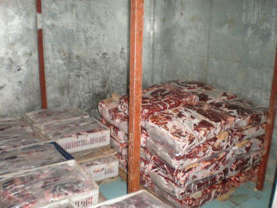 Нелегальная телятина изъята до решения суда. Фото предоставлено Барановичским межрайонным отделом УДФР