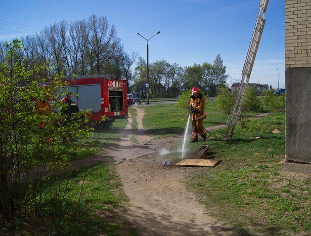 В Барановичах из-за окурка загорелся балкон