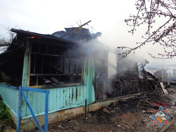 Пожар в  д. Дудичи