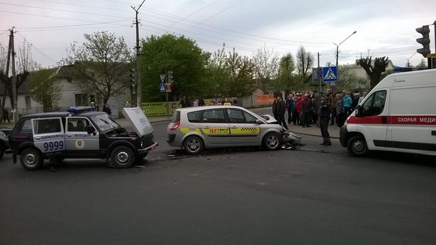 Авария на перекрестке Советская и Баранова