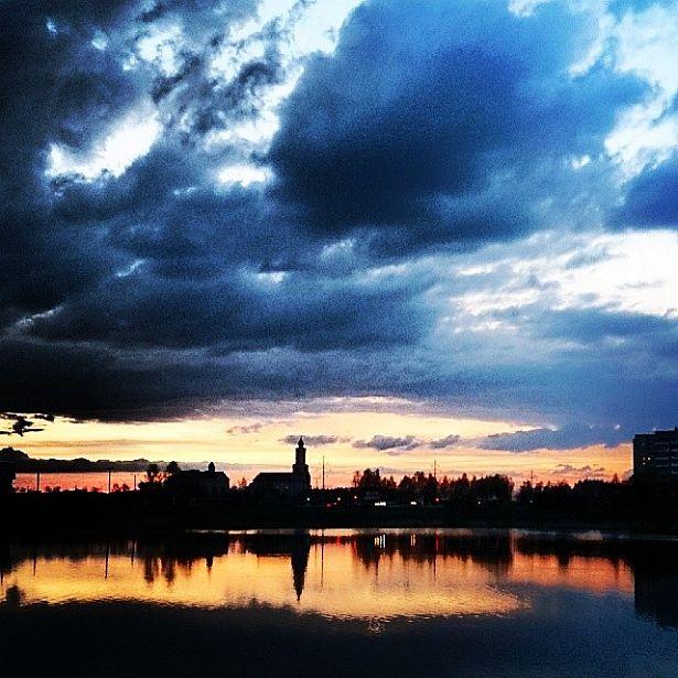 @_rinast  Вечаровае неба над Паўночным мікрараёнам