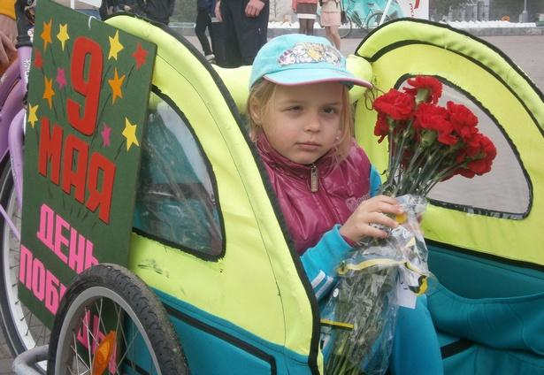 Самая юная участница велопробега - 6-летняя Майя. фото Натальи Семенович