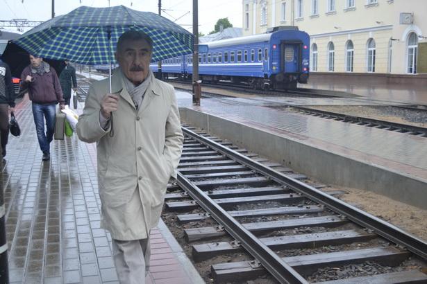 Съемки на перроне станции Барановичи-Полесские. фото Натальи Семенович