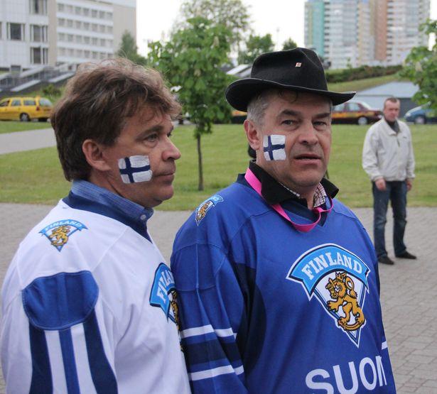 Фінскія заўзятары на ЧС-2014 па хакеі