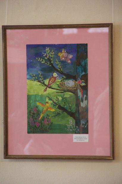 В Барановичах открылась выставка детских рисунков. Фото Александра ТРИПУТЬКО