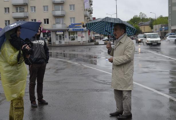 Съемки в Барановичах программы с Леонидом Каневским, 12 мая 2014 года. Фото: Наталья СЕМЕНОВИЧ