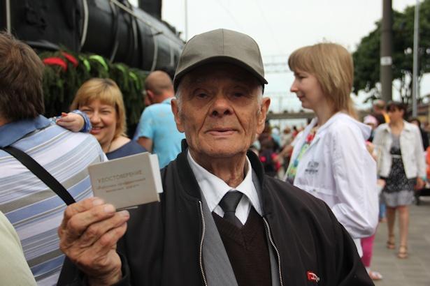 Ветеран-железнодорожник Игнат Майсюк работал помощником машиниста на паровозах. Фото:Александр Трипутько.