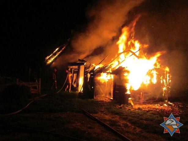 Пожар в деревне Емельяновка