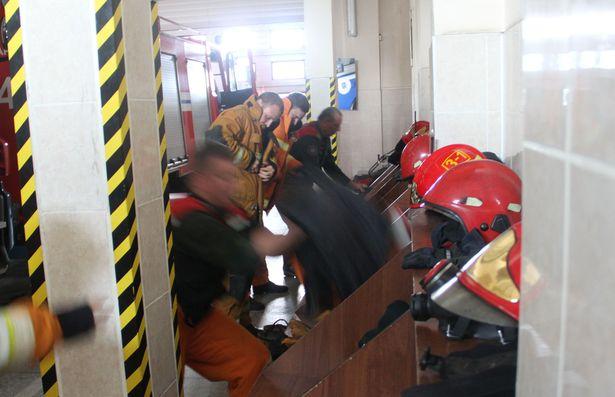 Спасателясм хватило 15 сек чтобы быть готовым к выезду