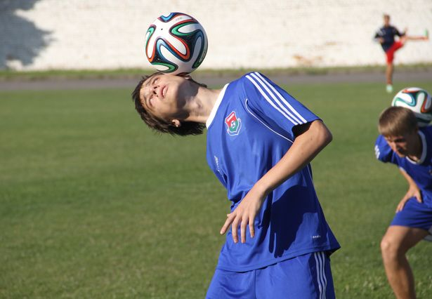 У Баранавічах адбыўся майстар-клас па футбольным фрыстайле