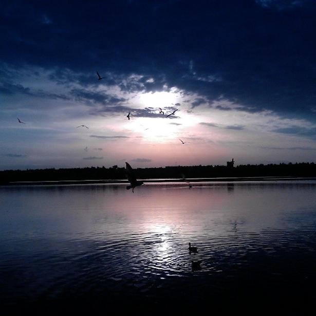 @dashashveikus  Нябёснае вока над Жлобінскім возерам