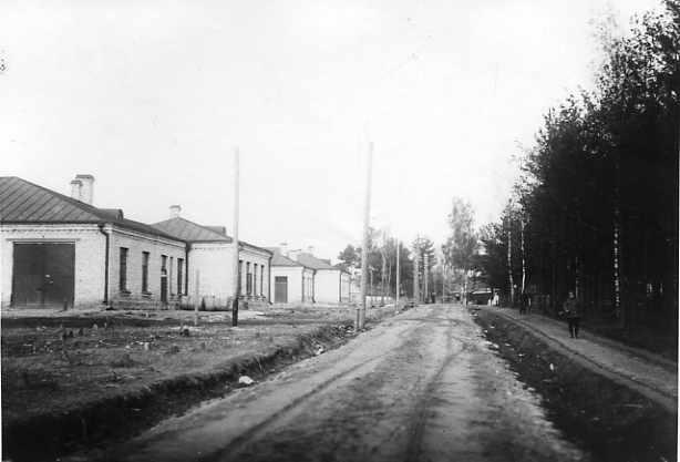 Вид территории Ставки Верховного Главнокомандующего в Барановичах