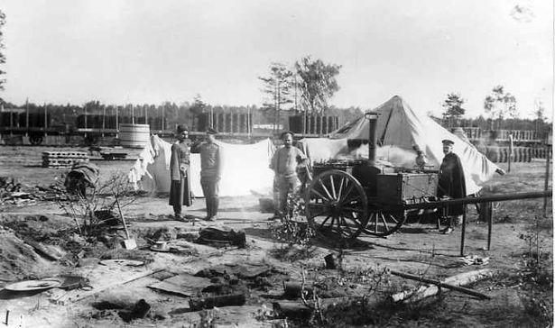 Походная кухня одной из воинских частей, расположенных на территории Ставки Верховного Главнокомандующего