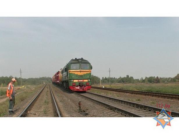 Пожарный поезд был использован для тушения торфяника