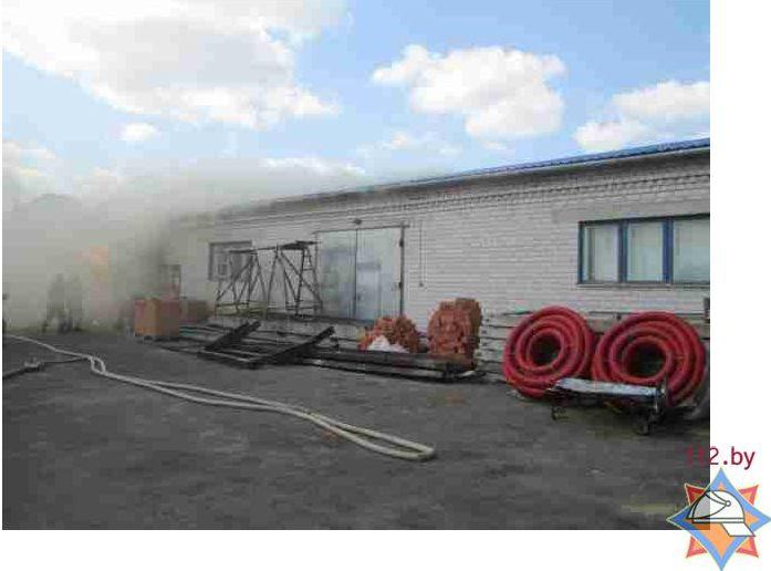 В воскресенье произошло возгорание магазина стройматериалов