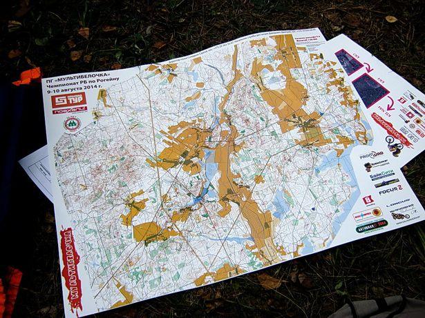 Карта с маршрутом гонки. фото Виктора ШЕРЫШЕВА