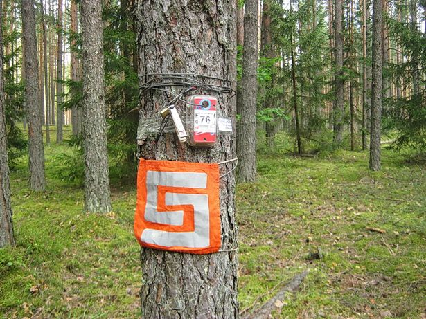 Место очередной отметки для участников. фото Виктора ШЕРЫШЕВА