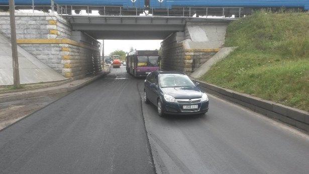 Ремонтные работы по ул. Слонимское шоссе должны были завершиться неделю назад