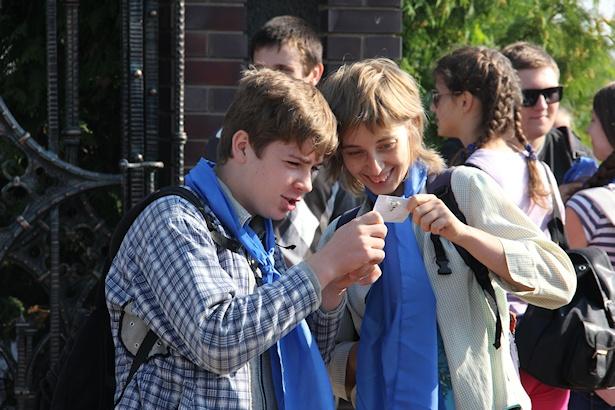 Из Барановичей в Логишин отправилась пешая пилигримка. Фото Александра ТРИПУТЬКО