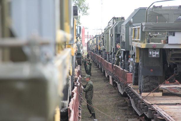 Погрузка на военный эшелон прошла 26-27 августа. Фото Александра Трипутько