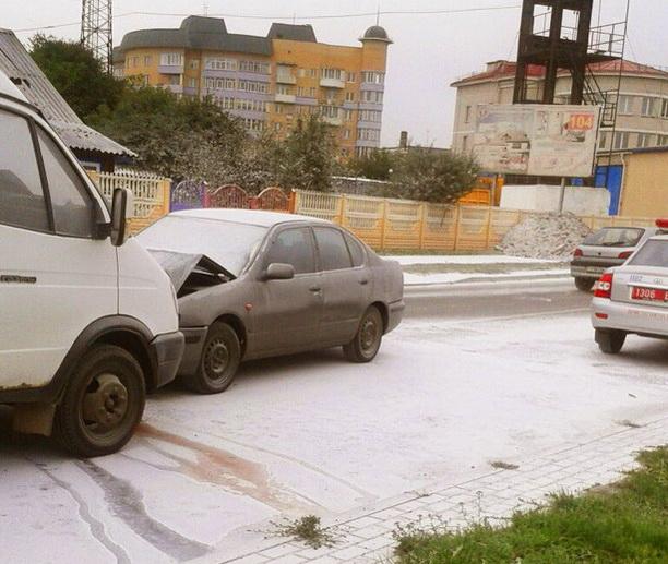 На месте аварии. Фото Алексея ШУГАЕВА