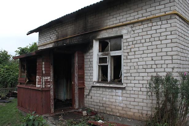Последствия пожара в пер. Рылеева
