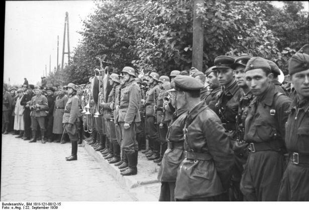 Сумесны савецка-фашысцкі парад у Брэсце, верасень 1939