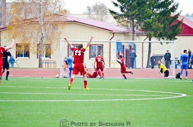 Гол в ворота ФК Жлобин. Фото со страницы официальной группы  ФК Жлобин ВКонтакте.