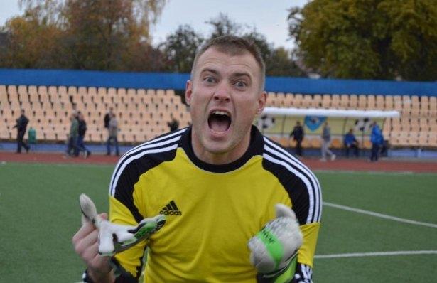 Вратарь Дмитрий Тарасевич. Фото со страницы официальной группы  ФК Барановичи ВКонтакте.