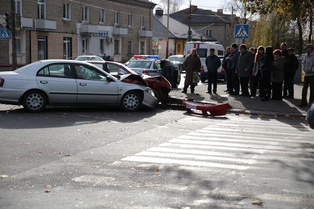 Авария на перекрестке Баранова и Войкова