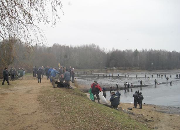 Все, что осталось от водохранилища на реке Мышанка. Фото: Татьяна НЕКРАШЕВИЧ.