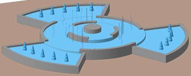 Проект реконструкции фонтана. Фото: Сайт Барановичского горисполкома