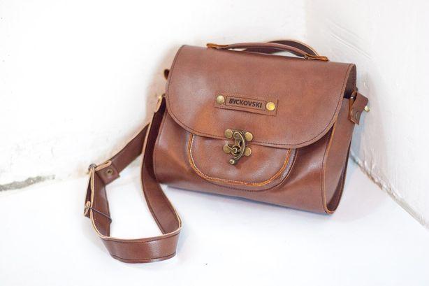 Кожаная сумка. Дизайнер – Евгений Бычковский. Фото из архива автора.