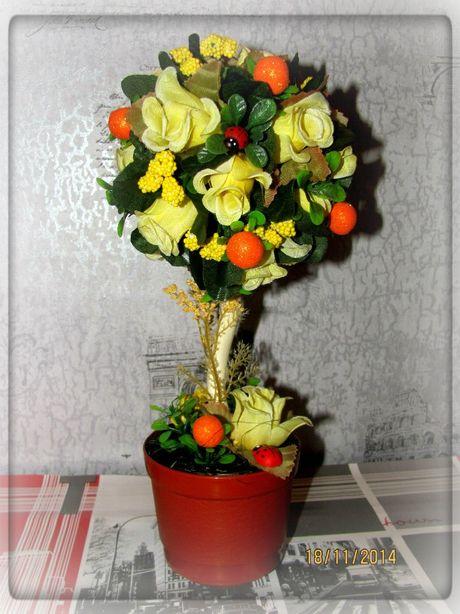 Дерево-топиарий Юлии Цветочкиной. Фото из архива автора.