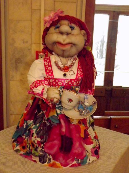 Кукла из капрона Дуняшечка, коллективная работа учеников ГУО СШ 7