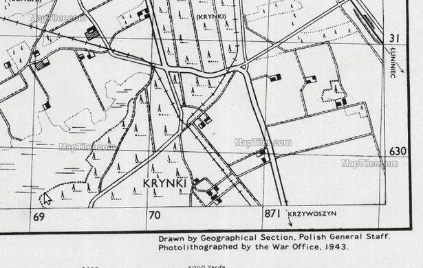 Карта выдадзена польскім генеральным штабам на эміграцыі