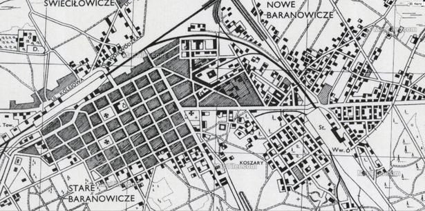 Карта горада падчас вайны