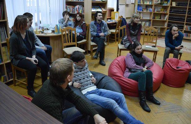 На встрече состоялся показ документальных фильмов и клипов Артема Лобача