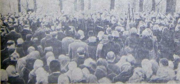 Мітынг падчас пахавання Багуслава Вільчкоўскага