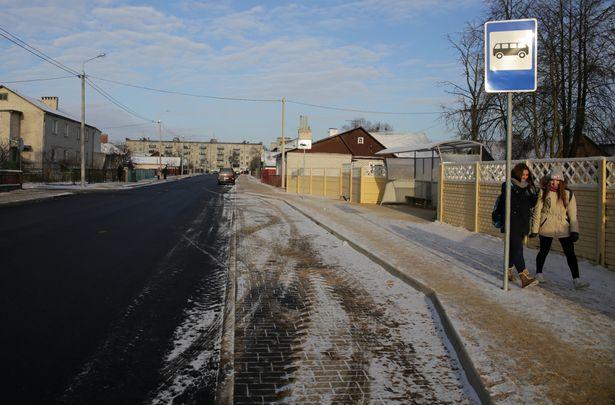 Новая остановка общественного транспорта на ул. Кооперативной