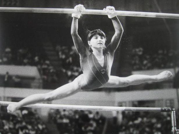 Гимнастка Светлана Лебединская – на международных соревнованиях в составе сборной СССР.