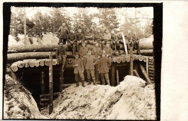 Будаўніцтва немцамі ўмацаванняў пад Баранавічамі. 1916 год
