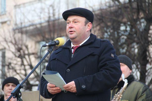 Выступление председателя Барановичского горисполкома Юрия Громаковского. Фото: Александр ТРИПУТЬКО.