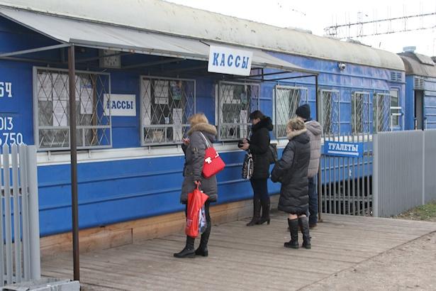 Временные кассы были расположены в вагончиках. Фото: Александр ТРИПУТЬКО.