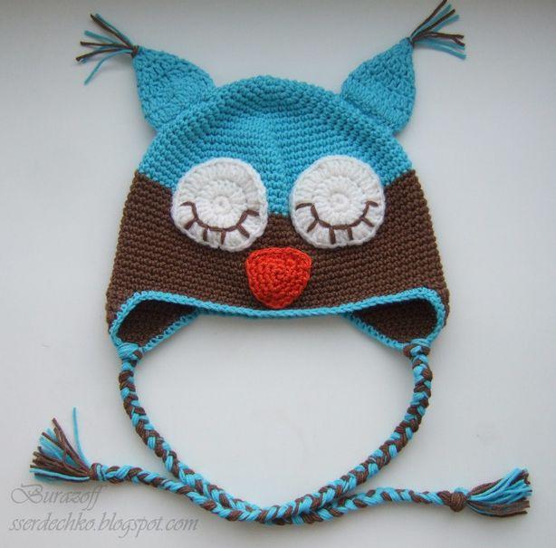 Детская шапочка-сова. Фото из архива мастера.